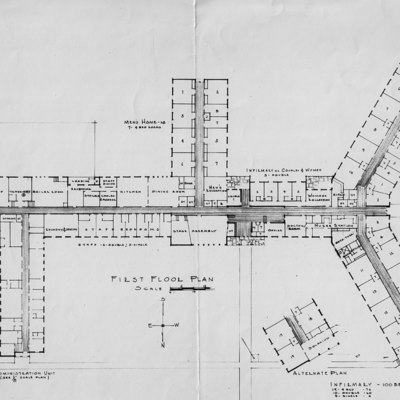 First Floor Plan for Orleans County Infirmary